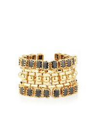 Eddie Borgo - Metallic Dome Estate Cuff Gold - Lyst