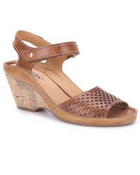 Pikolinos - Brown Capri Womens Wedge Heel Sandals - Lyst