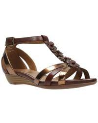 Clarks - Brown Bianca Shade Womens Sandals - Lyst