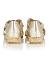 Lotus - Metallic Arielle Strappy Sandals - Lyst