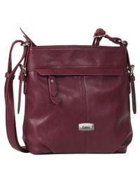 Charles Clinkard - Purple Lisa Womens Messenger Handbag - Lyst