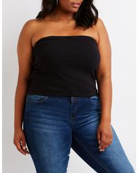 6ed513b80b1 Lyst - Charlotte Russe Plus Size Tube Top in Black
