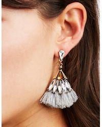 Charlotte Russe - Metallic Rhinestone & Tassel Earrings - 3 Pack - Lyst