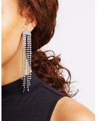 Charlotte Russe - Metallic Rhinestone Stud & Drop Earrings - Lyst