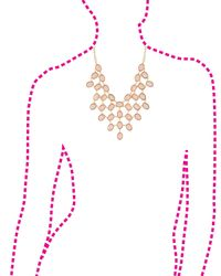 Charlotte Russe - Metallic Faceted Stone Bib Necklace - Lyst