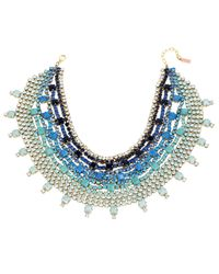 Doloris Petunia | Marrakech Statement Collar, Blue | Lyst