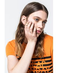 Cheap Monday | Metallic Outline Rings | Lyst