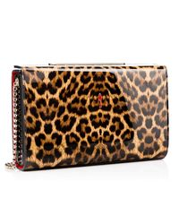 Christian Louboutin - Brown Vanité Large Clutch - Lyst