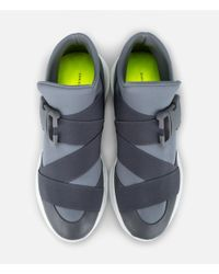 Christopher Kane - Gray High-top Safety Buckle Sneakers for Men - Lyst