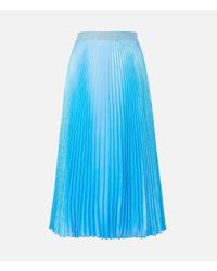 Christopher Kane - Blue Irridescent Pleated Skirt - Lyst