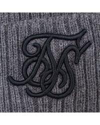 Sik Silk - Gray Beanie In Grey for Men - Lyst