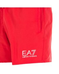 EA7 Red Sea World Core Swim Shorts for men