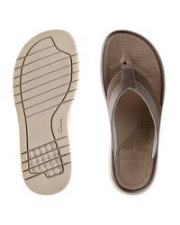 Clarks - Brown Balta Sun Cloudsteppers Sandals for Men - Lyst