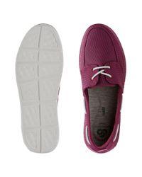 Clarks - Purple Step Maro Sand Boat Shoe - Lyst
