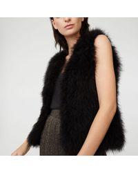 Club Monaco - Black Violet Feather Vest - Lyst