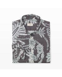Club Monaco   Gray Slim-fit Paisley Floral Shirt for Men   Lyst
