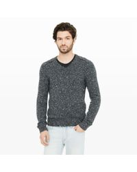Club Monaco | Gray Cashmere Tweed V-neck for Men | Lyst