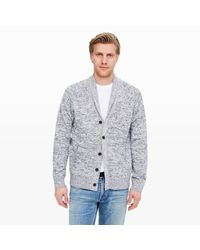Club Monaco | Gray Marled Cotton Cardigan for Men | Lyst