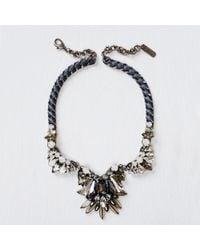 Rada' - Black Ribbon Necklace - Lyst
