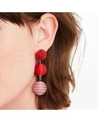 Club Monaco - Red Bauble Stripe Earring - Lyst