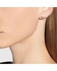 COACH - Multicolor Mini Demi-fine Rexy Stud Earrings - Lyst
