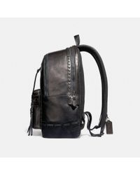 COACH - Black Academy Backpack With Whipstitch - Lyst