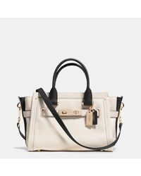 COACH | Metallic Swagger 27 Carryall In Colorblock Leather | Lyst