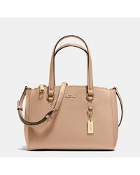 COACH - Metallic Stanton Carryall 26 In Crossgrain Leather - Lyst