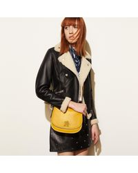 COACH - Red Mickey Saddle Bag 23 In Glovetanned Leather - Lyst