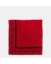 COACH - Red Mickey Oversized Square Scarf - Lyst