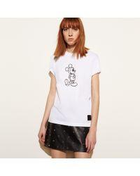 COACH - Black Mickey T-shirt - Lyst