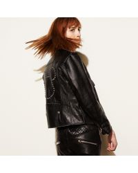 COACH - Black Mickey Moto Jacket - Lyst