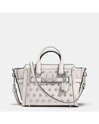 COACH   Metallic Swagger 15 In Pebble Leather With Ombre Rivets   Lyst