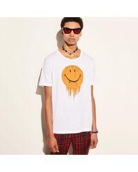 COACH - White T-shirt - Lyst
