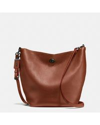 COACH - Multicolor Duffle Shoulder Bag In Glovetanned Pebble Leather - Lyst
