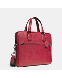 COACH - Gray Hudson 5 Bag In Crossgrain Leather for Men - Lyst