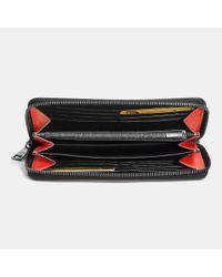 COACH | Orange Accordion Wallet In Crossgrain Leather for Men | Lyst