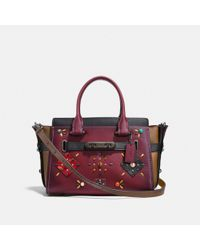 COACH - Multicolor Swagger 27 With Colorblock Patchwork Prairie Rivets - Lyst