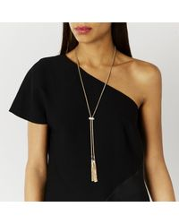 Coast | Metallic Carmelo Diamante Bar Necklace | Lyst