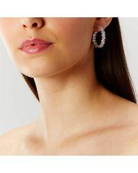 Coast   Metallic Casey Sparkle Hoop Earrings   Lyst