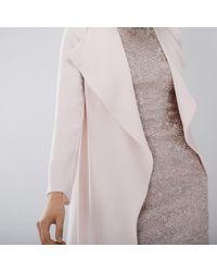 Coast - Pink Shanie Drape Jacket - Lyst