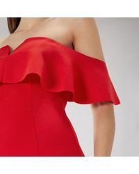 Coast - Red Sade Scuba Dress - Lyst