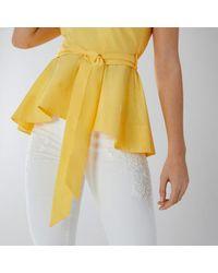 Coast - Yellow Bella Peplum Top - Lyst