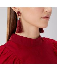 Coast | Red Linza Tassel Earrings | Lyst