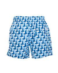 Ted Baker - Blue Saome Wave Printed Swim Short for Men - Lyst