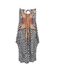 Mara Hoffman   Multicolor Women's Modal Draped Side Mini Dress   Lyst
