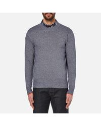 PS by Paul Smith | Blue Men's Crew Neck Knitted Jumper for Men | Lyst