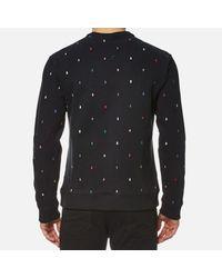 KENZO - Black Men's Embroidered Letters Sweatshirt for Men - Lyst