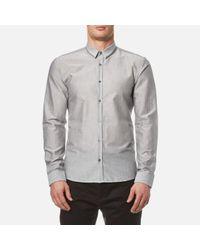 HUGO | Gray Men's Ero3 Long Sleeve Shirt for Men | Lyst