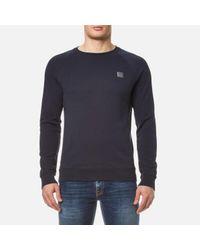 BOSS Orange | Blue Men's Wheel Crew Neck Sweatshirt for Men | Lyst